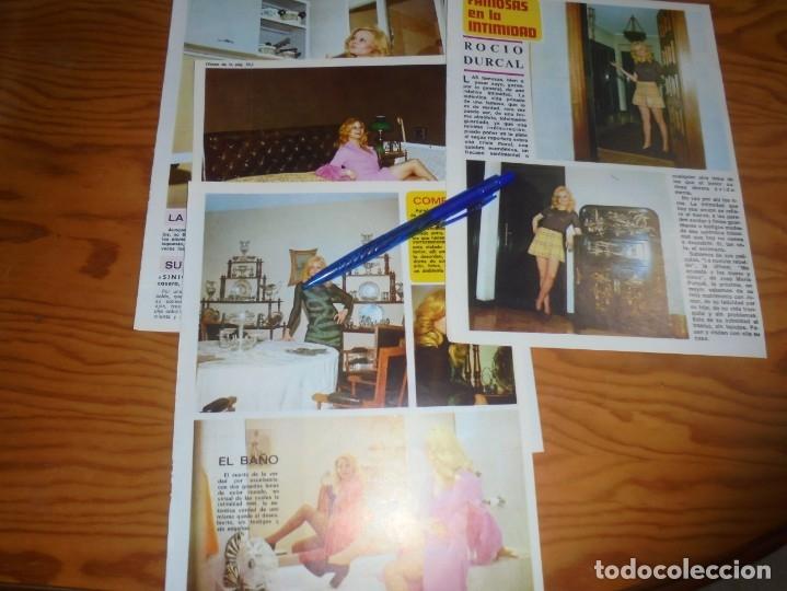 RECORTE : FAMOSAS EN LA INTIMIDAD : ROCIO DURCAL. DIEZ MINUTOS, ABRIL 1972 () (Coleccionismo - Revistas y Periódicos Modernos (a partir de 1.940) - Revista Diez Minutos)