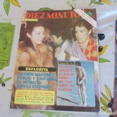 Coleccionismo de Revista Diez Minutos: REVISTA DIEZ MINUTOS Nº 1486 PAQUITO FERNÁNDEZ OCHOA IVÁN, SARA MONTIEL, DIBUJO DE FRANCO. Lote 181170235