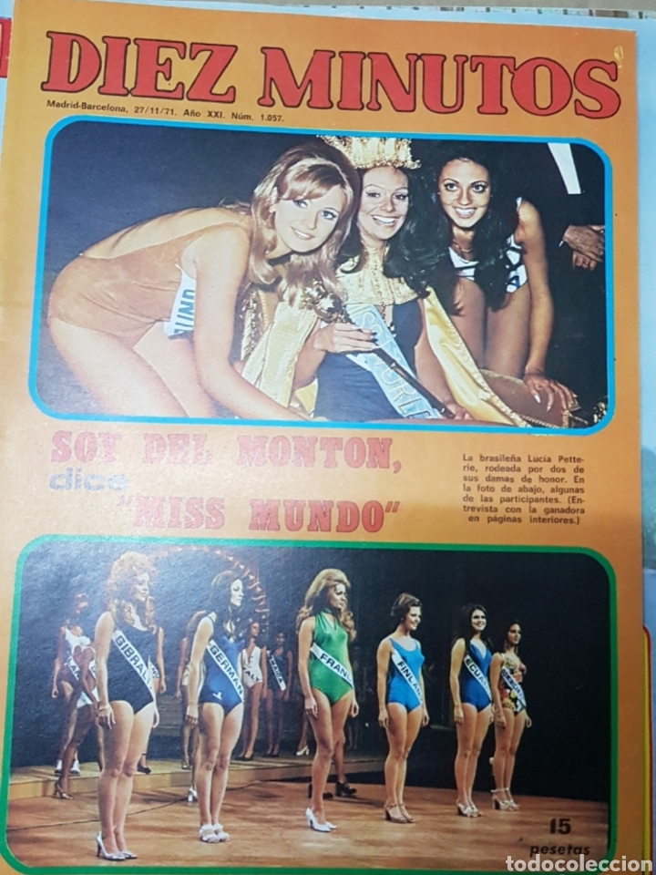 Coleccionismo de Revista Diez Minutos: Lote antiguas revistas diez minutos - Foto 5 - 182304483