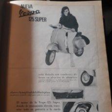 Coleccionismo de Revista Diez Minutos: PUBLICIDAD DE LA NUEVA VESPA SUPER 125 - AÑO 1966 - 29 X 22 CM. Lote 182541490
