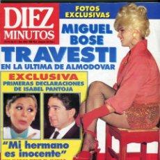 Coleccionismo de Revista Diez Minutos: MIGUEL BOSE-ALMODOVAR-MARTA SANCHEZ-NURIA HOSTA-PANTOJA-PAQUIRRIN-MAYRA GOMEZ KEMP N 2069 AÑO 2001. Lote 182628615