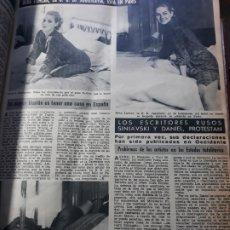 Coleccionismo de Revista Diez Minutos: BEBA LONCAR , LA B.B DE YUGOSLAVIA EN PARIS . HOJA AÑO 1966.. Lote 182771288