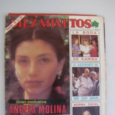 Coleccionismo de Revista Diez Minutos: ANGELA MOLINA. DIEZ MINUTOS. Lote 182824892