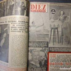 Coleccionismo de Revista Diez Minutos: 10 MINUTOS REVISTA ENCUADERNADA TODO EL AÑO 1954. Lote 182825271