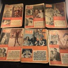 Coleccionismo de Revista Diez Minutos: LOTE DE REVISTAS 10 MINUTOS AÑOS 50. Lote 183440100