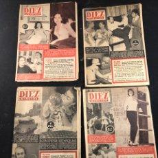 Coleccionismo de Revista Diez Minutos: 4 REVISTAS 10 MINUTOS. Lote 183440180