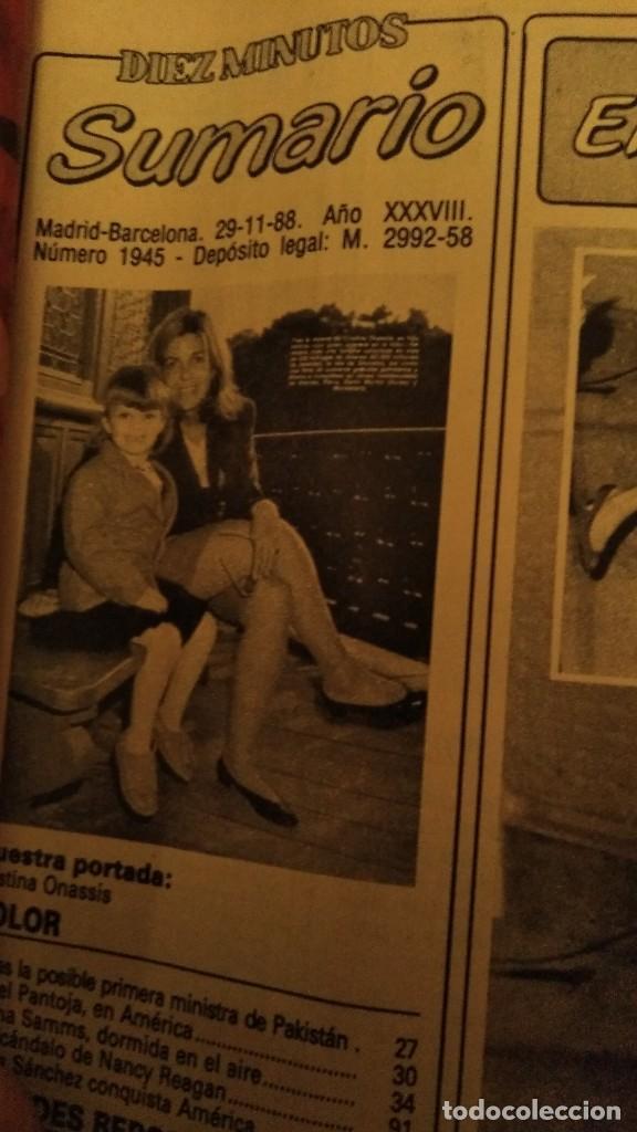 Coleccionismo de Revista Diez Minutos: REVISTA DIEZ MINUTOS 1945 AÑO 1988 ISABEL PANTOJA - Foto 2 - 187541636