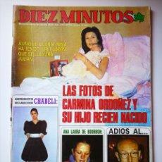 Coleccionismo de Revista Diez Minutos: DIEZ MINUTOS , 28/01/1986 , MARIBEL VERDU , BLANCA FERNANDEZ OCHOA.... Lote 189919476
