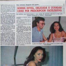 Collectionnisme de Magazine Diez Minutos: RECORTE REVISTA DIEZ MINUTOS Nº 1729 1984 NORMA DUVAL. Lote 190180133