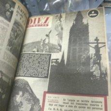 Coleccionismo de Revista Diez Minutos: ANUARIO DE LA REVISTA DIEZ MINUTOS 1953, VALIA 1PTAS TAPA SUELTA POR EL CANTO, LA TAPA DE ATRÁS EST. Lote 191217103