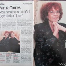 Coleccionismo de Revista Diez Minutos: RECORTE REVISTA DIEZ MINUTOS Nº 2573 2000 MARUJA TORRES 4 PGS. Lote 191342036