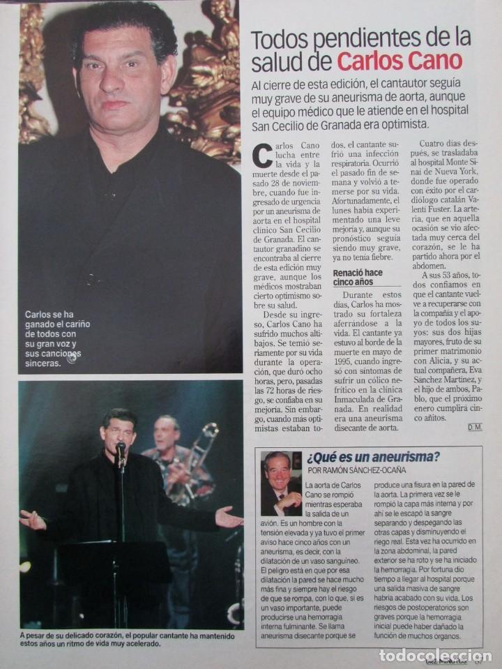 RECORTE REVISTA DIEZ MINUTOS Nº 2573 2000 CARLOS CANO, DUQUES E HUESCAR (Coleccionismo - Revistas y Periódicos Modernos (a partir de 1.940) - Revista Diez Minutos)