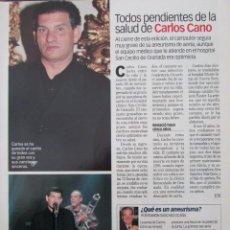 Coleccionismo de Revista Diez Minutos: RECORTE REVISTA DIEZ MINUTOS Nº 2573 2000 CARLOS CANO, DUQUES E HUESCAR. Lote 191342955