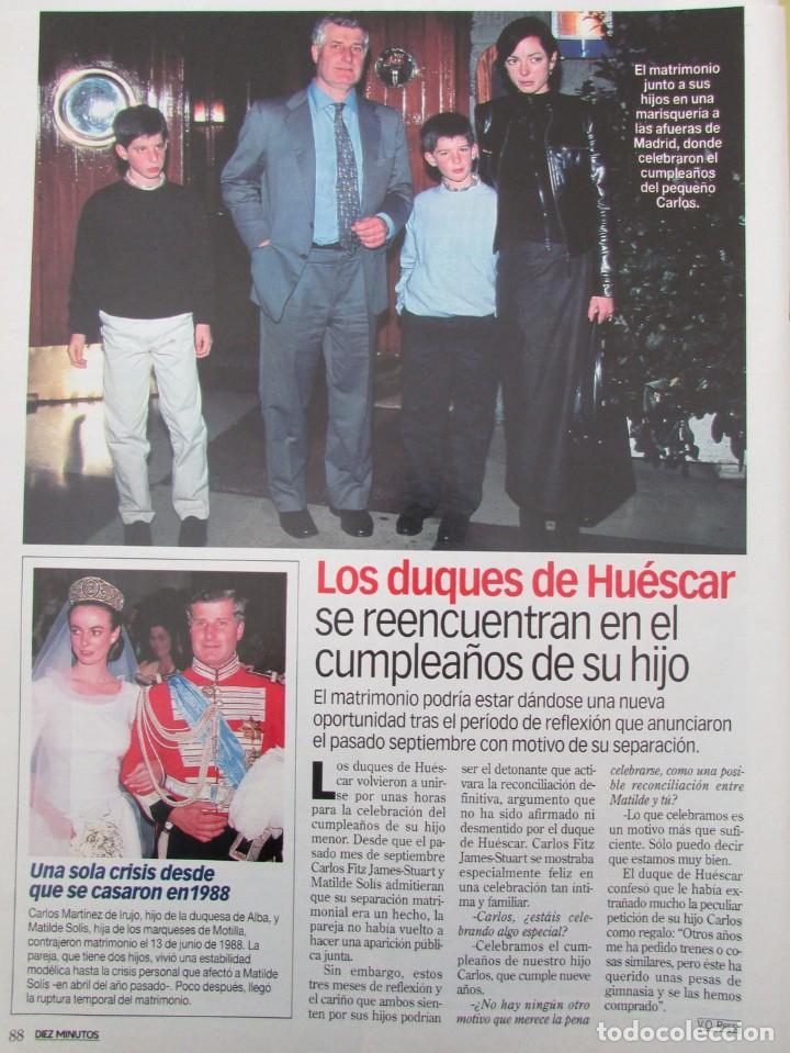 Coleccionismo de Revista Diez Minutos: RECORTE REVISTA DIEZ MINUTOS Nº 2573 2000 CARLOS CANO, DUQUES E HUESCAR - Foto 2 - 191342955