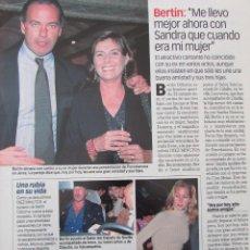 Coleccionismo de Revista Diez Minutos: RECORTE REVISTA DIEZ MINUTOS Nº 2573 2000 BERTIN OSBORNE, LARA DIBILDOS. Lote 191343037