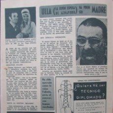 Coleccionismo de Revista Diez Minutos: RECORTE REVISTA DIEZ MINUTOS Nº 896 1968 CHARLES AZNAVOUR Y ULLA THORSSELL. Lote 191344556