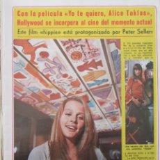 Coleccionismo de Revista Diez Minutos: RECORTE REVISTA DIEZ MINUTOS Nº 896 1968 ALICE TOKLAS, PETER SELLERS. Lote 191344678