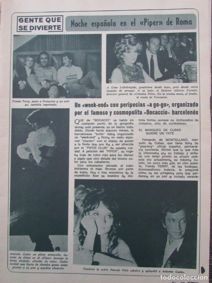 RECORTE REVISTA DIEZ MINUTOS Nº 896 1968 PIPPER DE ROMA.PASCALE PETIT,ANTONIO GADES, XAVIER FOZ (Coleccionismo - Revistas y Periódicos Modernos (a partir de 1.940) - Revista Diez Minutos)