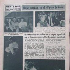 Coleccionismo de Revista Diez Minutos: RECORTE REVISTA DIEZ MINUTOS Nº 896 1968 PIPPER DE ROMA.PASCALE PETIT,ANTONIO GADES, XAVIER FOZ. Lote 191345032