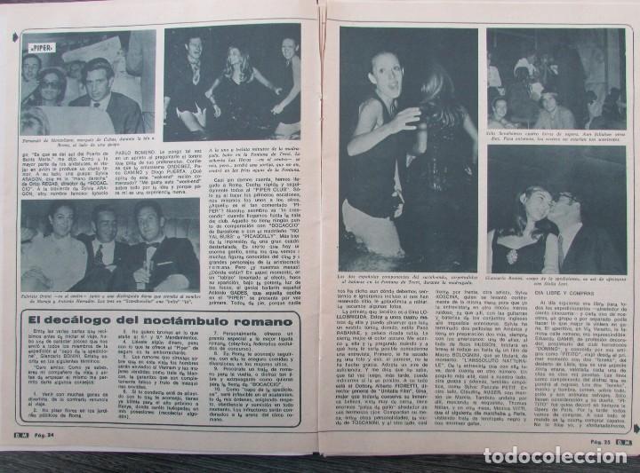 Coleccionismo de Revista Diez Minutos: RECORTE REVISTA DIEZ MINUTOS Nº 896 1968 PIPPER DE ROMA.PASCALE PETIT,ANTONIO GADES, XAVIER FOZ - Foto 2 - 191345032