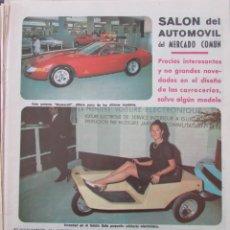 Coleccionismo de Revista Diez Minutos: RECORTE REVISTA DIEZ MINUTOS Nº 896 1968 SALON DEL AUTOMOVIL DE PARIS 2 PGS. Lote 191345121