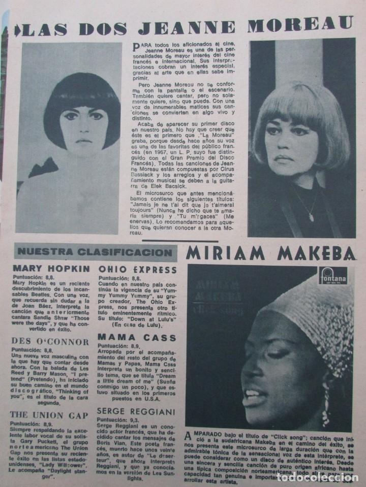Coleccionismo de Revista Diez Minutos: RECORTE REVISTA DIEZ MINUTOS Nº 896 1968 PATTY PRAVO, JEANNE MOREAU, MIRIAM MAKEBA - Foto 2 - 191345286