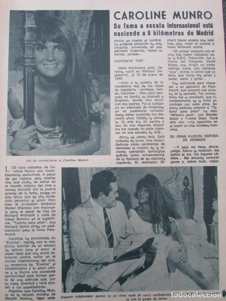 RECORTE REVISTA DIEZ MINUTOS Nº 896 1968 CAROLINE MUNRO (Coleccionismo - Revistas y Periódicos Modernos (a partir de 1.940) - Revista Diez Minutos)