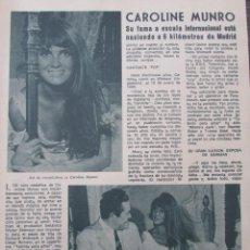 Coleccionismo de Revista Diez Minutos: RECORTE REVISTA DIEZ MINUTOS Nº 896 1968 CAROLINE MUNRO. Lote 191345336