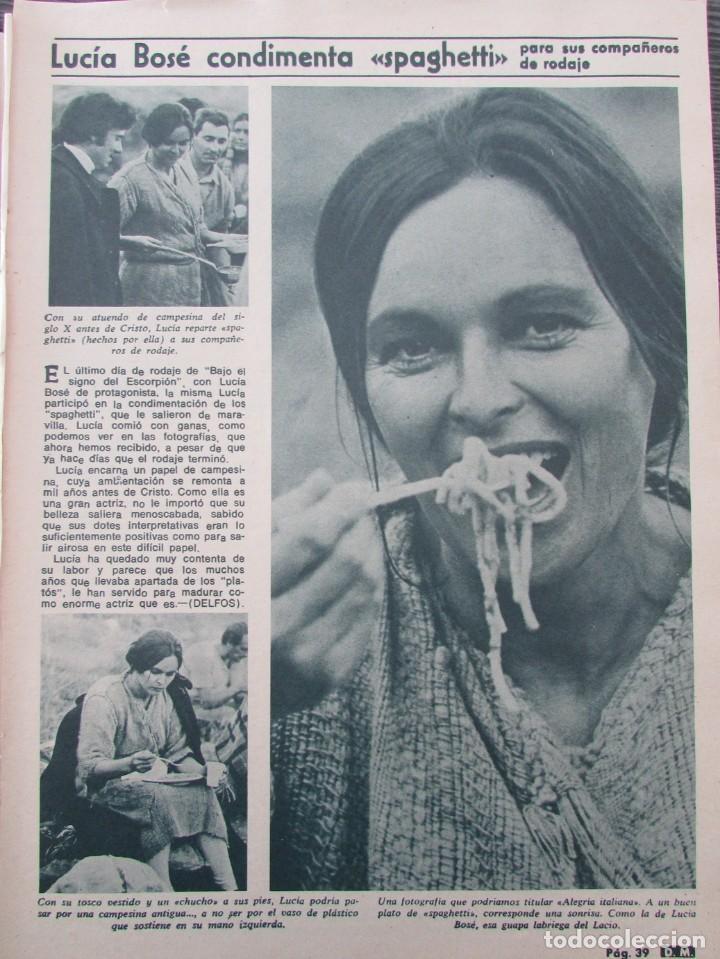 RECORTE REVISTA DIEZ MINUTOS Nº 896 1968 LUCIA BOSE, ROSY ARMEN (Coleccionismo - Revistas y Periódicos Modernos (a partir de 1.940) - Revista Diez Minutos)