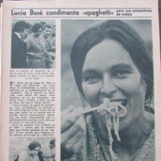 Coleccionismo de Revista Diez Minutos: RECORTE REVISTA DIEZ MINUTOS Nº 896 1968 LUCIA BOSE, ROSY ARMEN. Lote 191345450