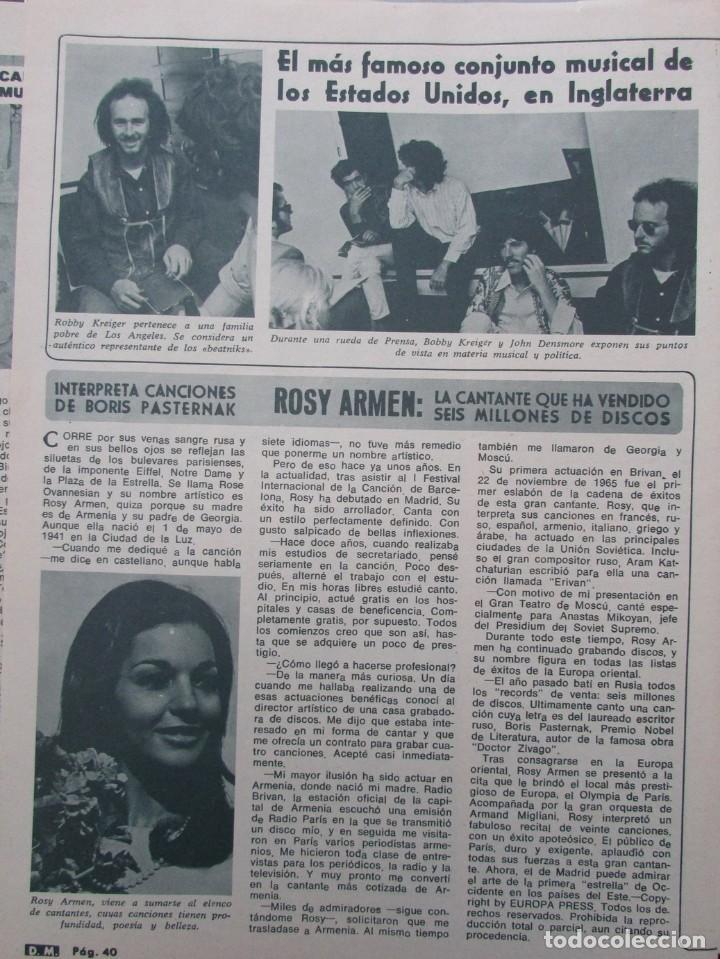 Coleccionismo de Revista Diez Minutos: RECORTE REVISTA DIEZ MINUTOS Nº 896 1968 LUCIA BOSE, ROSY ARMEN - Foto 2 - 191345450