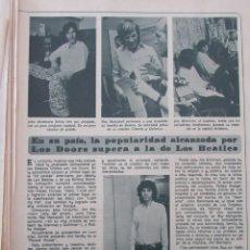Coleccionismo de Revista Diez Minutos: RECORTE REVISTA DIEZ MINUTOS Nº 896 1968 LOS DOORS, FARAH DIBA. Lote 191345518