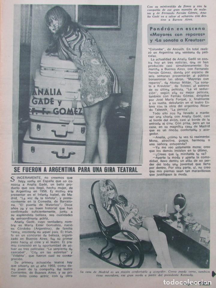 RECORTE REVISTA DIEZ MINUTOS Nº 896 1968 ANALIA GADE, FERNANDO FERNAN GOMEZ 2 PGS (Coleccionismo - Revistas y Periódicos Modernos (a partir de 1.940) - Revista Diez Minutos)