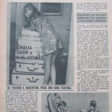 Collectionnisme de Magazine Diez Minutos: RECORTE REVISTA DIEZ MINUTOS Nº 896 1968 ANALIA GADE, FERNANDO FERNAN GOMEZ 2 PGS. Lote 191345630