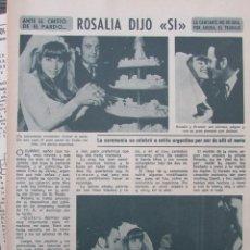 Coleccionismo de Revista Diez Minutos: RECORTE REVISTA DIEZ MINUTOS Nº 896 1968 CANTANTE ROSALIA, ERNESTO ORTIZ DE ZARATE 2 PGS. Lote 191345720