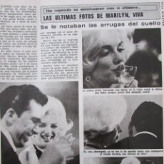Coleccionismo de Revista Diez Minutos: RECORTE REVISTA DIEZ MINUTOS Nº 1434 1979 MARILYN MONROE. Lote 191436126