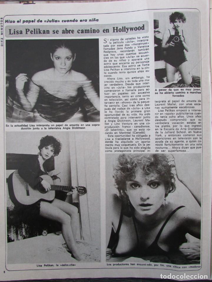 RECORTE REVISTA DIEZ MINUTOS Nº 1434 1979 LISA PELIKAN (Coleccionismo - Revistas y Periódicos Modernos (a partir de 1.940) - Revista Diez Minutos)