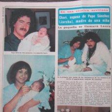 Coleccionismo de Revista Diez Minutos: RECORTE REVISTA DIEZ MINUTOS Nº 1434 1979 PEPE SANCHEZ, GRUPO JARCHA. Lote 191436220