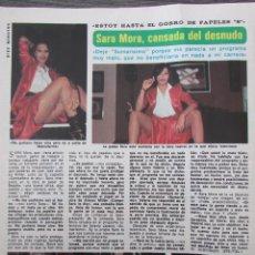 Coleccionismo de Revista Diez Minutos: RECORTE REVISTA DIEZ MINUTOS Nº 1434 1979 SARA MORA. Lote 191436358
