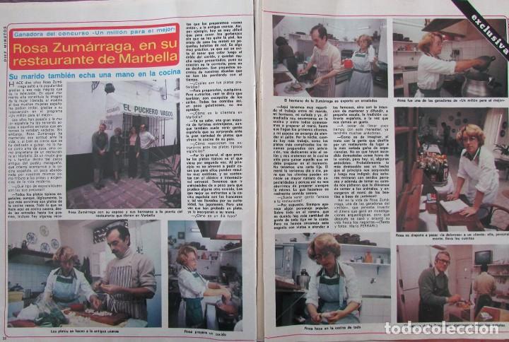 RECORTE REVISTA DIEZ MINUTOS Nº 1434 1979 ROSA ZUMARRAGA, GUSTAVO RE (Coleccionismo - Revistas y Periódicos Modernos (a partir de 1.940) - Revista Diez Minutos)