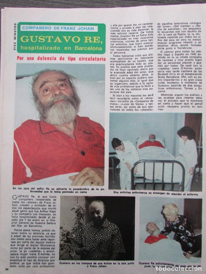 Coleccionismo de Revista Diez Minutos: RECORTE REVISTA DIEZ MINUTOS Nº 1434 1979 ROSA ZUMARRAGA, GUSTAVO RE - Foto 2 - 191436411