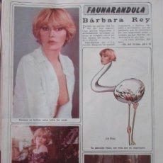 Coleccionismo de Revista Diez Minutos: RECORTE REVISTA DIEZ MINUTOS Nº 1434 1979 BARBARA REY 3 PGS Y POSTER CENTRAL. Lote 191436523