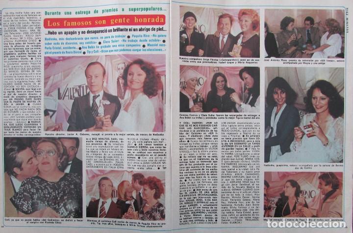 Coleccionismo de Revista Diez Minutos: RECORTE REVISTA DIEZ MINUTOS Nº 1434 1979 ANGELA MOLINA, NADIUSKA, ANA BELEN, MASSIEL, LOLA FORES - Foto 2 - 191436577