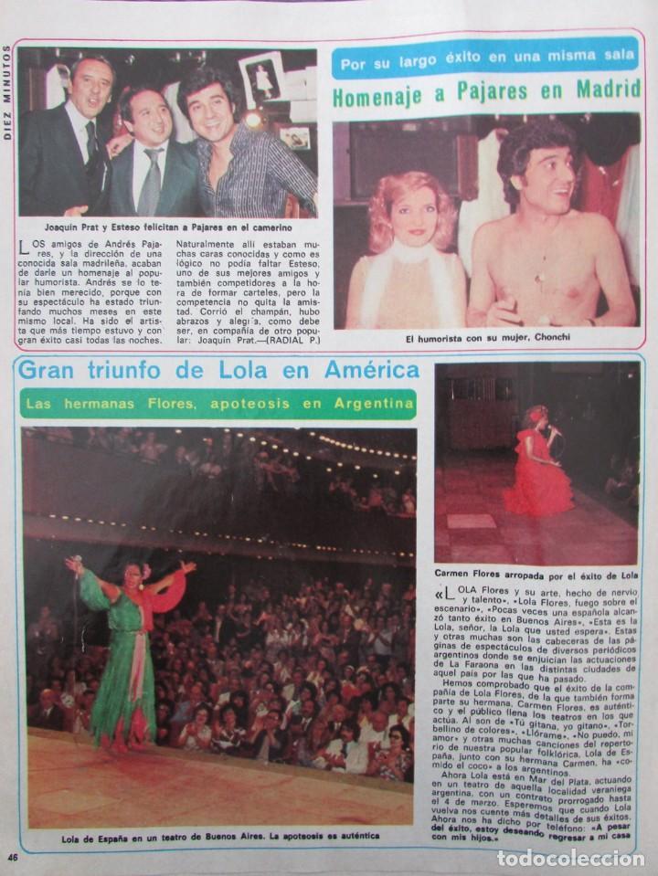 Coleccionismo de Revista Diez Minutos: RECORTE REVISTA DIEZ MINUTOS Nº 1434 1979 ANGELA MOLINA, NADIUSKA, ANA BELEN, MASSIEL, LOLA FORES - Foto 3 - 191436577