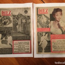 Coleccionismo de Revista Diez Minutos: REVISTA DIEZ MINUTOS, 2 ANTIGUAS REVISTAS AÑOS 1953 Y 1955. Lote 191723708