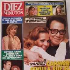 Coleccionismo de Revista Diez Minutos: REVISTA DIEZ MINUTOS 2176 CARMEN SEVILLA MUERTE CANTINFLAS MIRIAM DIAZ AROCA MARTA SANCHEZ MADONNA. Lote 192856933