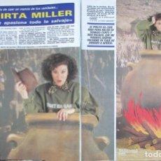 Coleccionismo de Revista Diez Minutos: RECORTE REVISTA DIEZ MINUTOS Nº 1915 1988 MIRTA MILLER, BLANCA SUELVES, . Lote 193234235