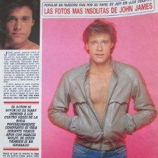 Coleccionismo de Revista Diez Minutos: RECORTE REVISTA DIEZ MINUTOS Nº 1915 1988 JOHN JAMES 2 PGS. Lote 193234258