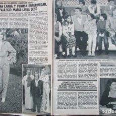 Coleccionismo de Revista Diez Minutos: RECORTE REVISTA DIEZ MINUTOS Nº 1915 1988 MARIA LUISA SECO PORTADA Y 8 PGS. CAROLINA DE MONACO 2 PGS. Lote 193234330