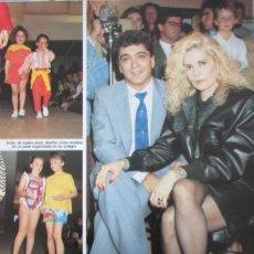 Coleccionismo de Revista Diez Minutos: RECORTE REVISTA DIEZ MINUTOS Nº 1915 1988 BARBARA REY Y ANGEL CRISTO. Lote 193234353